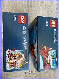 LEGO 40138 Christmas Train & 40139 Gingerbread House NEW IN BOX