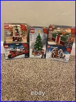 LEGO CHRISTMAS 40223 40138 40292 40337 40338 Globe Train Tree MORE