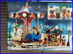 LEGO CREATOR 10235 WINTER VILLAGE MARKET New & Sealed Christmas Carousel Set