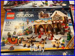 LEGO Christmas 10254 10245 10235 40337 40223 Carousel Train Snow globe + RETIRED