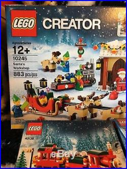 LEGO Santa's Workshop 10245, Christmas Train 40138 & Toy Work Shop 40106. WOW
