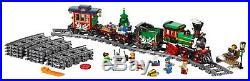 LEGO Winter Holiday Toy Train Rails New Year Christmas Construction Gift Set Box