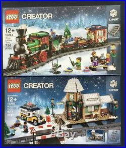 LEGO Winter Holiday Train 10254 & Village Station 10259 (Retired) CHRISTMAS