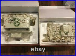 LENOX HOLIDAY Christmas Junction 2pc Train Set Engine and Caboose
