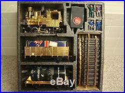 LGB 24 Karat Golden Train G scale 20100NB Christmas starter set used in box