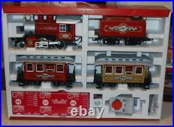 LGB G scale 72325 Christmas train set Steam Locomotive, tender, cars, track EX