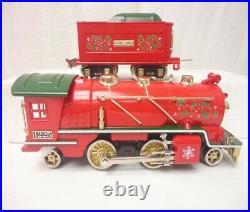 LIONEL CHRISTMAS TINPLATE O GAUGE STEAM ENGINE TRAIN SET With TRAINSOUNDS 6-51012