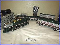 LIONEL SILVER BELLS CHRISTMAS MUSICAL TRAIN SET With REMOTE CONTROL & TRACKS
