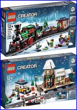 Lego 10254 Winter Holiday Train & 10259 Village Station New Sealed Christmas