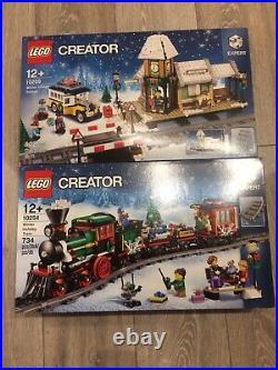 Lego Creator 10254 & 10259 Winter Holiday Train & Village Station