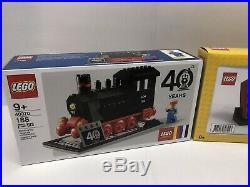 Lego VIP Exclusive Lot 40th Aniv. Train 40370 Red Brick 6313287 Christmas 40338