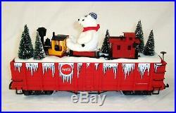 Lgb 45730 Coca Cola Christmas Holiday Polar Bear Gondola With Mini Train Set