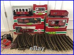 Lgb 72304 Christmas Passenger Train Set 7 Cars 24 Tracks Collectors Items