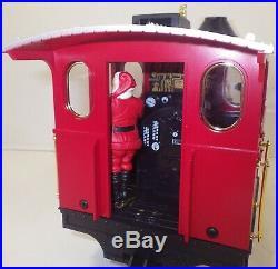 Lgb 72555 Christmas Santa Caboose Train Set Locomotive 2 Cars Track Transformer