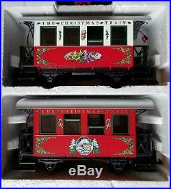 Lgb Holiday Santa Christmas Train Set With Smoking Loco! Cars Light Up