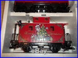 Lgb The Christmas Train Rare Christmas Set Red 72555 Germany