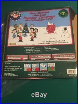 Lionel #35286 Peanuts Charlie Brown Christmas Passenger 3-pack Set Train O Gauge