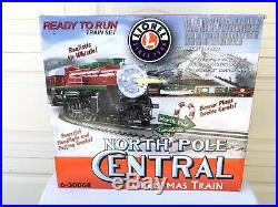 Lionel North Pole Central Christmas Train Set 6-30068 In Original Box