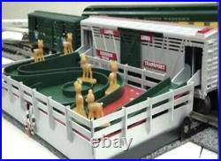 Lionel Operating Reindeer Stock Car & Corall Set 6-36704 O Gauge Train Christmas
