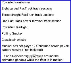 Lionel Santa's Flyer Train Set with Christmas Musical boxcar