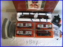 Lionel Trains O/O-27 Scale Norman Rockwell Christmas Train Set #631942 EX