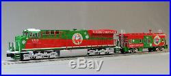 MTH RAILKING ES44AC CHRISTMAS IMPERIAL DIESEL & CABOOSE SET train 30-20523-1 NEW