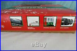 MTH RailKing Christmas TROLLEY TRAIN SET with 4pc extra Straight & 2 Track Bumpers