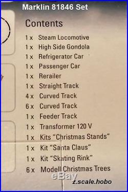 Marklin Z 81846 Christmas Train Starter Set Gift Cube TESTED NEW $0 SHIP