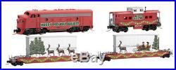 MicroTrains 99421080 Z Husky Holiday Hauler Christmas Train Set