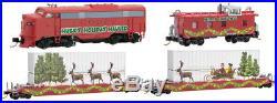 Micro-Trains MTL N-Scale Husky Hauler Christmas Train Set Diesel Loco/2 Cars