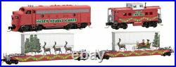 Micro-Trains MTL Z-Scale Husky Hauler Christmas Train Set Diesel Loco/2 Cars