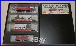 Micro Trains N Scale Husky Holiday Hauler Christmas Train Set #993 21 290 NIB