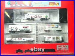 Micro-trains N Scale Christmas Train Set Santa's Work Train 99321090