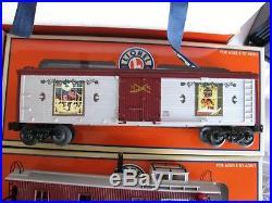 Modern Lionel O/O-27 Gauge Norman Rockwell Christmas Train set #631942 EX