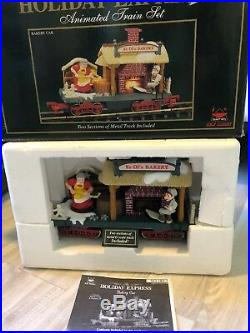 NEW BRIGHT Holiday Express Animated Christmas Train Set 384 Plus Extra 4 Cars +