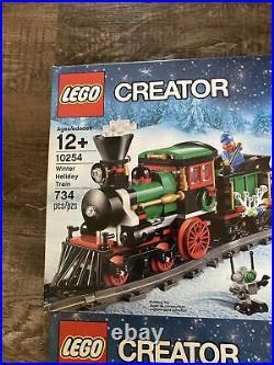 NEW NIB LEGO Creator 10254 & 10259 Winter Village & Winter Holiday Train