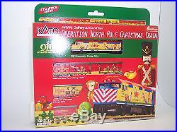 N Scale By Kato-f40ph, Operation North Pole Christmas Train #106-2015 Train Set