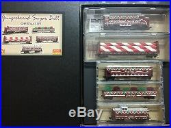 N-Scale Micro Trains 993-21-330 Christmas Set ginger Bread Sugar Belt NEW