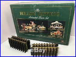New Bright HOLIDAY EXPRESS ANIMATED TRAIN SET 380 G Scale Christmas 1996 Edition