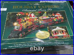 New Bright Holiday Express Christmas Electric Animated Train Set 384