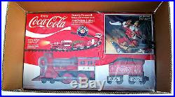 New Coca Cola Lionel Christmas Holiday Train Set G Scale +battery Pack & Charger