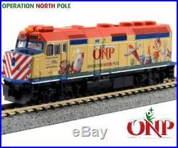 New Kato N Scale Train 4 Unit Set Operation North Pole Christmas 106-2015