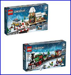 New LEGO Xmas Sets 10254 Winter Holiday Train + 10259 Village Station SEALED