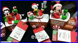 New Set 2016 Hallmark Wireless Disney Christmas Express Train Mickey Goofy Pluto