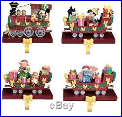 Nib Disney Shopping Christmas Train Stocking Holder Set Of 4 Dumbo Mickey Dwarfs