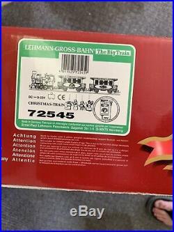Nib Santas Blue Christmas G Scale Big Train Set Lgb G-scale Germany 72545