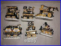 Pittsburgh Steelers NFL Danbury Mint Christmas Express train set complete set