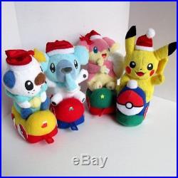 Pokemon Center Christmas Train 2011 Plush Authentic Rare Japan Set Lot of 4