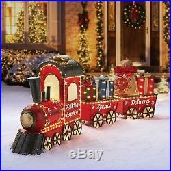 Pre-Lit LED Vintage Christmas Holiday Express 80 Outdoor Train Set Yard Decor