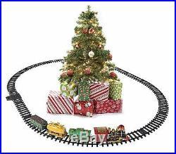 Prextex Christmas Train Set- Around Christmas Tree with Real Smoke, Music & Lights